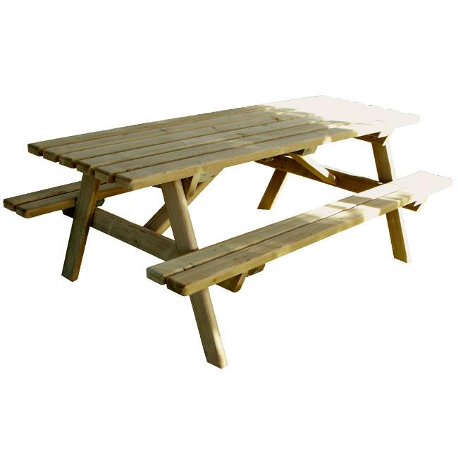 table pique nique bois spring destockage grossiste. Black Bedroom Furniture Sets. Home Design Ideas