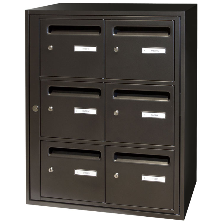 boite aux lettres collective int rieure lb1 destockage grossiste. Black Bedroom Furniture Sets. Home Design Ideas
